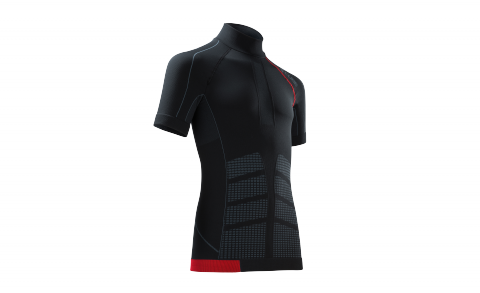 CUBE Baselayer cc S/S BLACKLINE