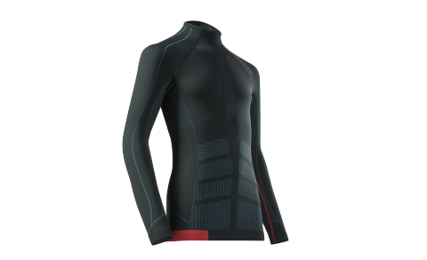 CUBE Baselayer cc L/S BLACKLINE