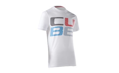 CUBE T-Shirt CUBE Striped Letters